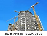 crane and building... | Shutterstock . vector #361979603