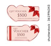 Two Gift Card Template With Re...