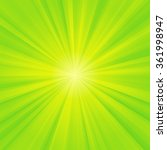 Green And Yellow Rays Coming...
