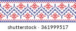 embroidered pattern on... | Shutterstock .eps vector #361999517