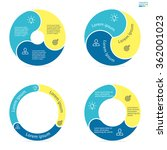 circular infographics with... | Shutterstock .eps vector #362001023