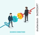 business connection concept.... | Shutterstock .eps vector #362002697
