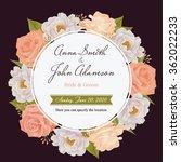 flower wedding invitation card  ... | Shutterstock .eps vector #362022233