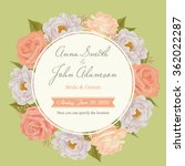 flower wedding invitation card  ... | Shutterstock .eps vector #362022287