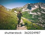 man traveler with backpack... | Shutterstock . vector #362024987