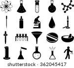 science symbols set | Shutterstock .eps vector #362045417