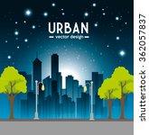 urban buildings graphic  | Shutterstock .eps vector #362057837