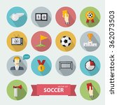 soccer icons sign set.flat... | Shutterstock . vector #362073503