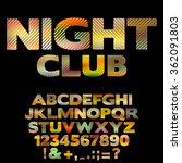 bright nightclub retro font...   Shutterstock .eps vector #362091803