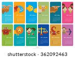 calendar 2017 with funny... | Shutterstock .eps vector #362092463