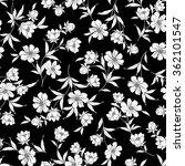 flower illustration pattern | Shutterstock .eps vector #362101547