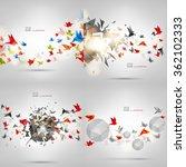 origami paper bird.vector... | Shutterstock .eps vector #362102333