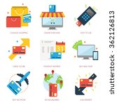 credit card shop flat icon... | Shutterstock .eps vector #362126813