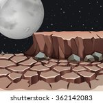nature scene with dryland on... | Shutterstock .eps vector #362142083