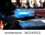 police patrol car with flashing ... | Shutterstock . vector #362143313