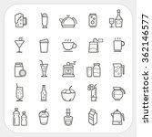 drink and beverage icons set | Shutterstock .eps vector #362146577