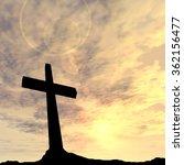 concept conceptual black cross... | Shutterstock . vector #362156477
