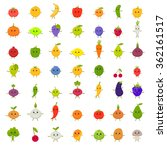 big vector set of happy... | Shutterstock .eps vector #362161517