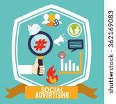 social advertising and... | Shutterstock .eps vector #362169083