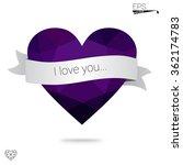 purple heart isolated on white... | Shutterstock .eps vector #362174783