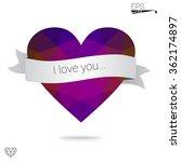 purple heart isolated on white... | Shutterstock .eps vector #362174897