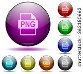 set of color png file format...
