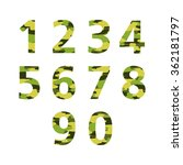 set of numbers camouflage... | Shutterstock .eps vector #362181797