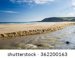 The River And Beach At Pentewa...