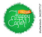 happy easter typographical...   Shutterstock .eps vector #362207717