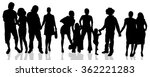 vector silhouettes of different ... | Shutterstock .eps vector #362221283