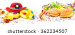carnival decoration  donuts ... | Shutterstock . vector #362234507