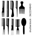 set of different combs   Shutterstock .eps vector #362234843