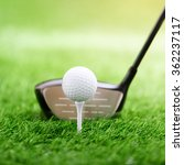 golf club and ball on green... | Shutterstock . vector #362237117