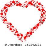 love  red frame . valentine's... | Shutterstock .eps vector #362242133