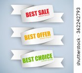 collection sale banners | Shutterstock .eps vector #362242793