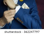 man in blue suit two bottons ...   Shutterstock . vector #362247797