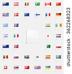 world flags icon set. 37... | Shutterstock . vector #362268323