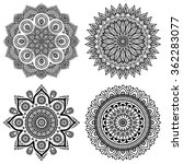 mandalas. vintage decorative... | Shutterstock .eps vector #362283077