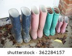 wellington boots outside home | Shutterstock . vector #362284157