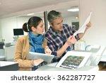 client in printshop controlling ...   Shutterstock . vector #362287727