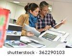 client in printshop controlling ... | Shutterstock . vector #362290103