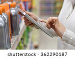 merchandiser checking products... | Shutterstock . vector #362290187