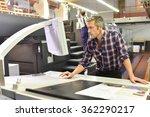 man working on printing machine ... | Shutterstock . vector #362290217