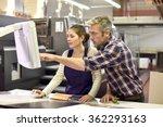 man working with apprentice in...   Shutterstock . vector #362293163