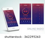 online radio application user... | Shutterstock .eps vector #362295263