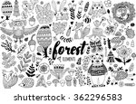 vector forest elements in... | Shutterstock .eps vector #362296583