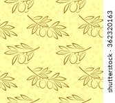 Seamless Pattern  Olive Branch...