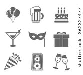 party icons set | Shutterstock .eps vector #362327477