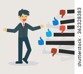 feedback concept  businessman... | Shutterstock .eps vector #362328383