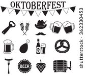 octoberfest icon set. german... | Shutterstock . vector #362330453